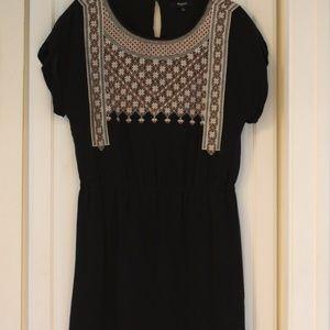 Madewell Black Silk Summer Casual Dress